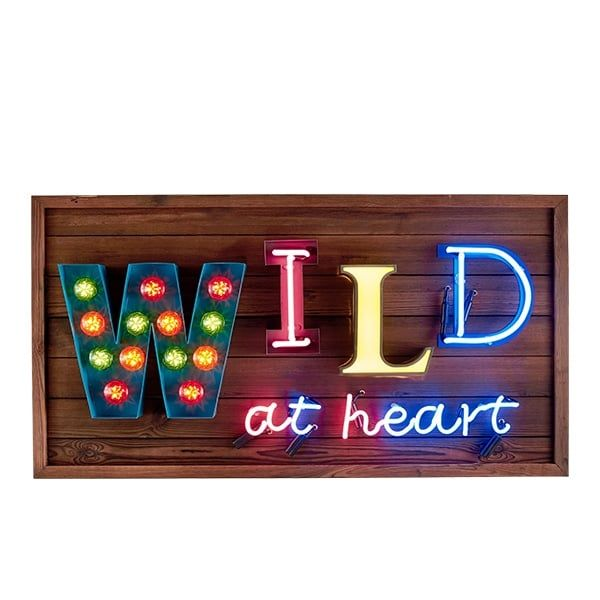 Cult Living Enseigne lumineuse LED Wild at Heart