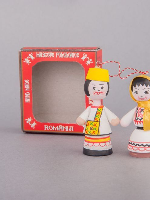 Marturii Figurine Traditionale Din Lemn Port Popular Oas