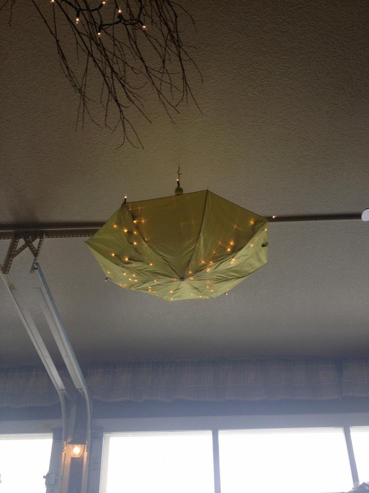 Lights in umbrellas