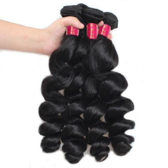 8A Wholesale Virgin Brazilian Hair Brazilian Looe Wave 10 Bundles Mink Hair