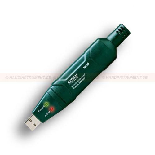 http://handinstrument.se/tryckmatare-r1170/datalogger-for-luftfuktighet-temperatur-och-tryck-53-RHT50-r1180  Datalogger för luftfuktighet, temperatur och tryck  Loggar upp till 10.000 mätvärden med programmerbar samplingsfrekvens  USB-gränssnitt för enkel installation och dataöverföring  Valbara enheter: psi, hPa, kPa, och bar  Valbar dataregistreringsfrekvens från 1 minut till 18 timmar  Programmerbara Min / Max alarmtrösklar  Manuellt och programmerbart startläge...