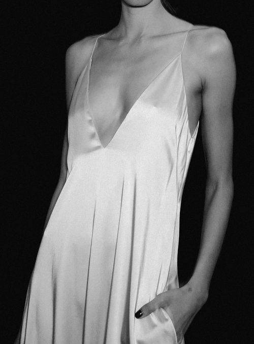 silk cami slip dress #style #fashion