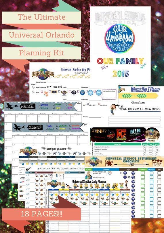 The Ultimate Universal Studios Florida Planner Kit | Universal Florida Binder Pages | Universal Studios Organizer Kit | Islands of Adventure