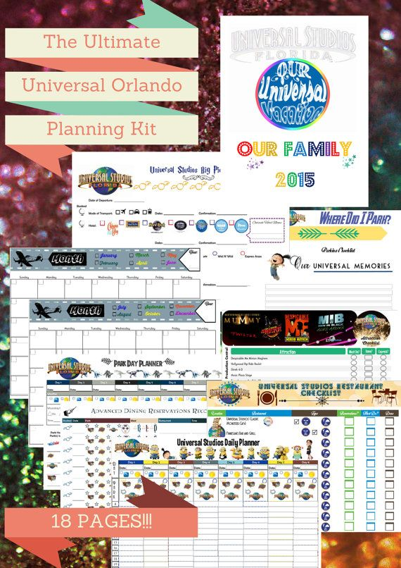 The Ultimate Universal Studios Florida Planner Kit