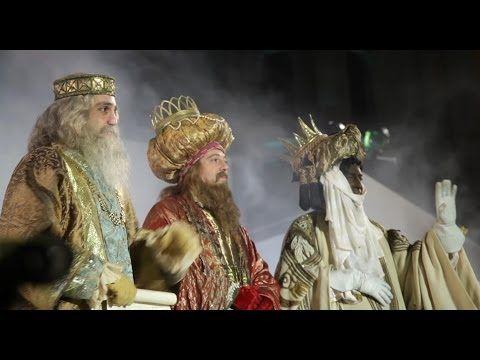 Three kings parade of Madrid in Spain