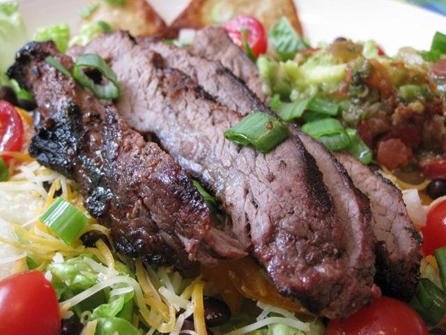 Grilled Carne Asada Salad | Good Eats | Pinterest