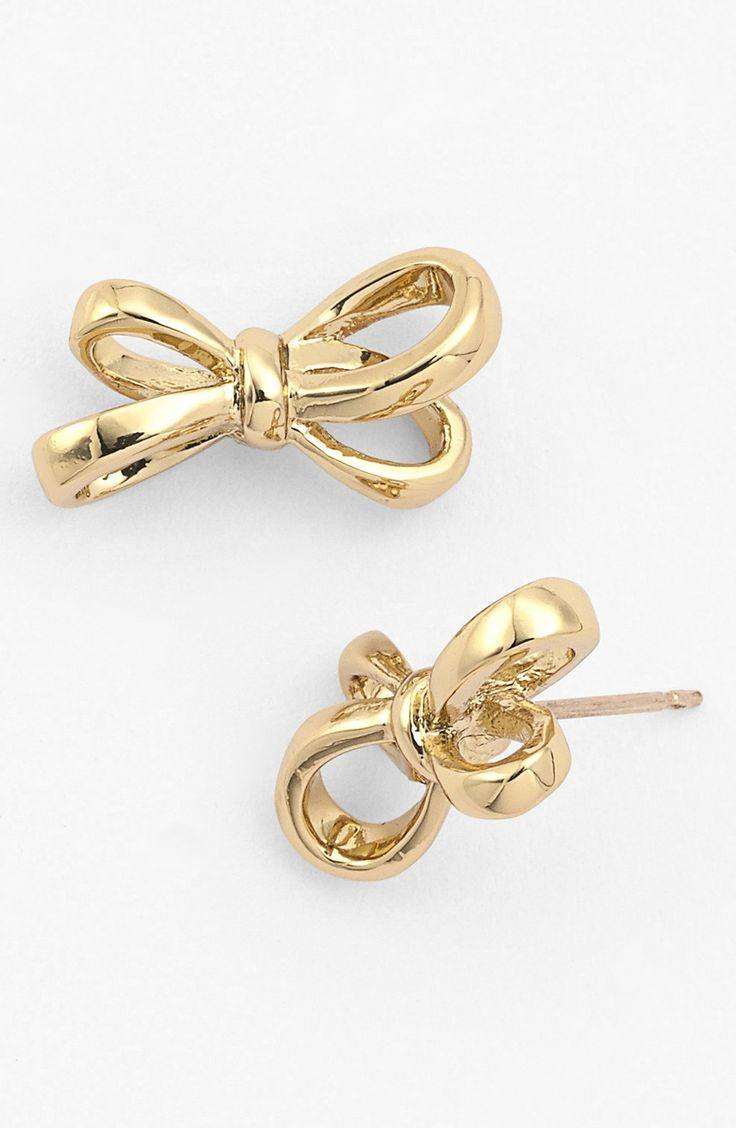 Adore these gold Kate Spade bow earrings! So delicate and dainty. Could wear them every day with any outfit.