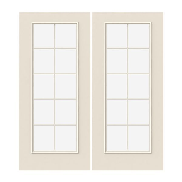 Prehung Exterior Steel 10 Lite Double Doors With Images Double