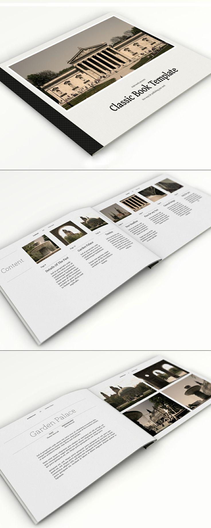 Classic Book Template via Creattica - Voorbeeld voor je eigen brochures