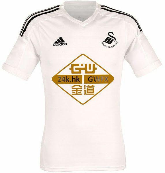 @Swansea Home T-Shirt 14/15 #9ine