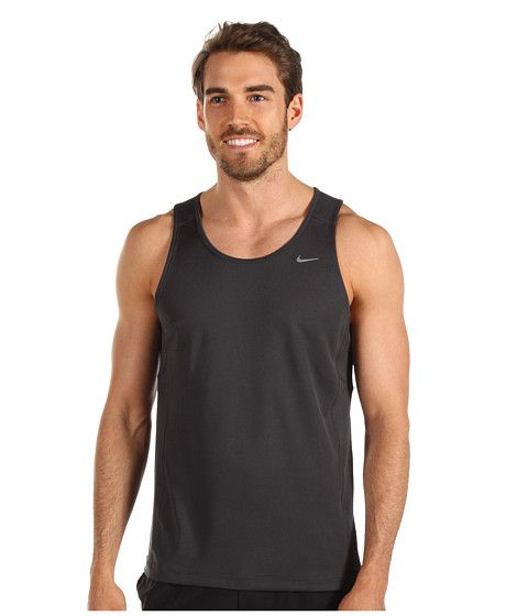 Nike Miler Singlet (Team) Anthracite/Anthracite/Reflective Silver - Zappos.com Free Shipping BOTH Ways