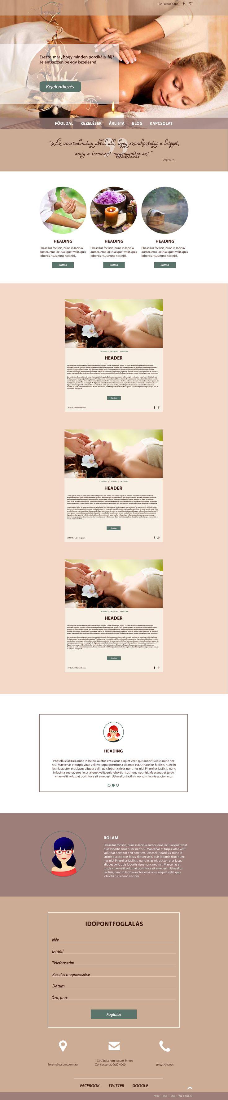 Massage salon webdesign and sitebuild  www.terapiaskucko.hu