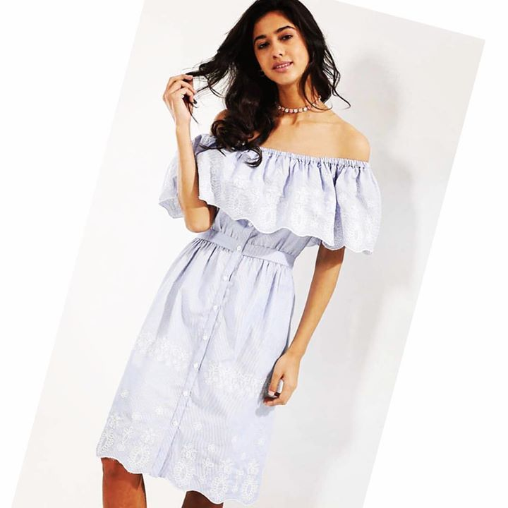 New season, new clothes! Check out some of must have pcs available on Koovs! #risdressmusthave #newseason #ridressxkoovs #offshoulder #stripes #ss17 #embroidery #dress #fashion #style