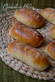 Cocinando con Kisa: Bollos de leche de soja rellenos de chocolate (kitchenAid y horno tradicional)