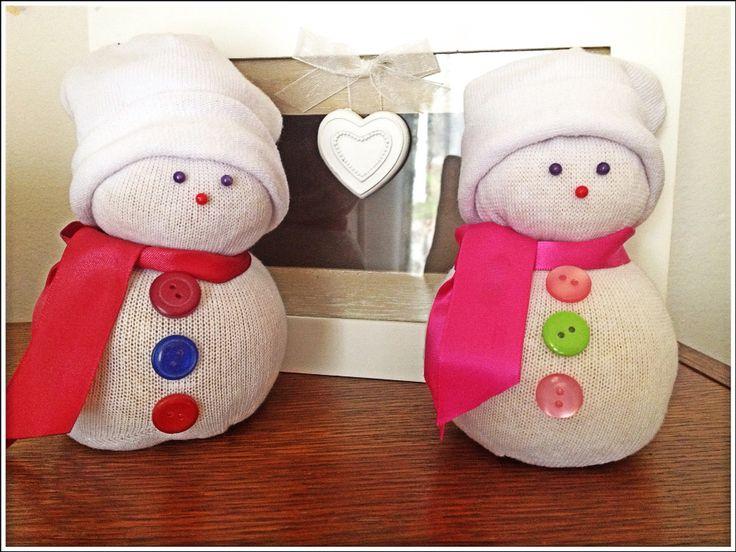 Sněhuláci z ponožky a rýže :)