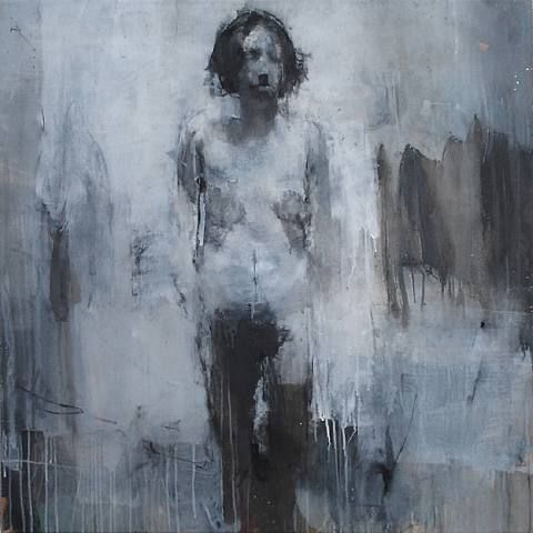 nobodysdirtybusiness:    Idea for Large Sculpture #2  Sophie Jodoin  Oil on Canvas  2002-2003