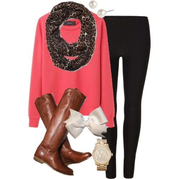 """Coral Sweater"" by classically-preppy on Polyvore"