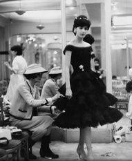 Coco Chanel at work in the 1950s CelebrateSparkle cocochanel chanel vintagechanel www.lachanelphile.com