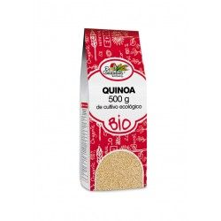 QUINOA 500 GR BIO  Quinoa ecológica El Granero 500GR. La quinoa, uno de los granos más importantes de los Andes, es técnicamente la semilla de una hierba, aunque es considerado un grano. Pertenece a la familia de las quenopodiáceas (como las espinacas) pero se compara con los cereales por su composición y su forma de comerlo.