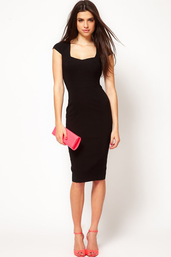 Simple black wedding guest dress fab fashion for Black and white dresses for wedding guests