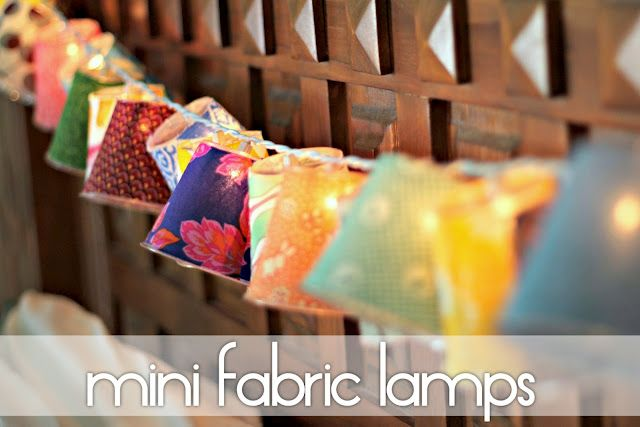 Plastic Cups and fabric make mini lamps