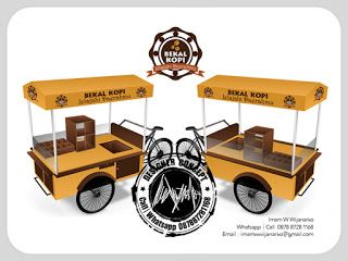 Desain Logo | Logo Kuliner |  Desain Gerobak | Jasa Desain dan Produksi Gerobak | Branding: Desain Gerobak Sepeda Bekal Kopi