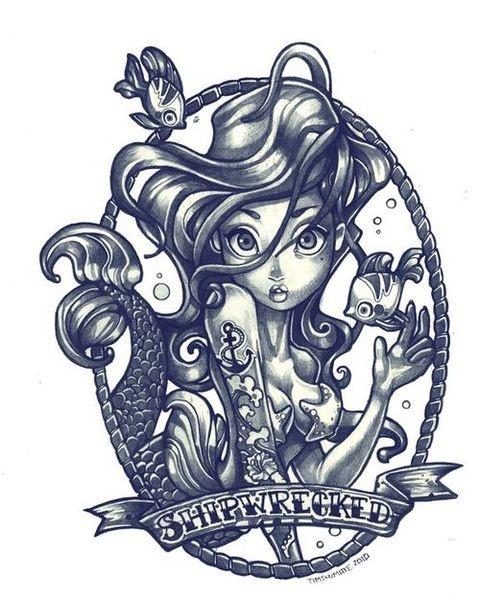 cute illustration for tattoo