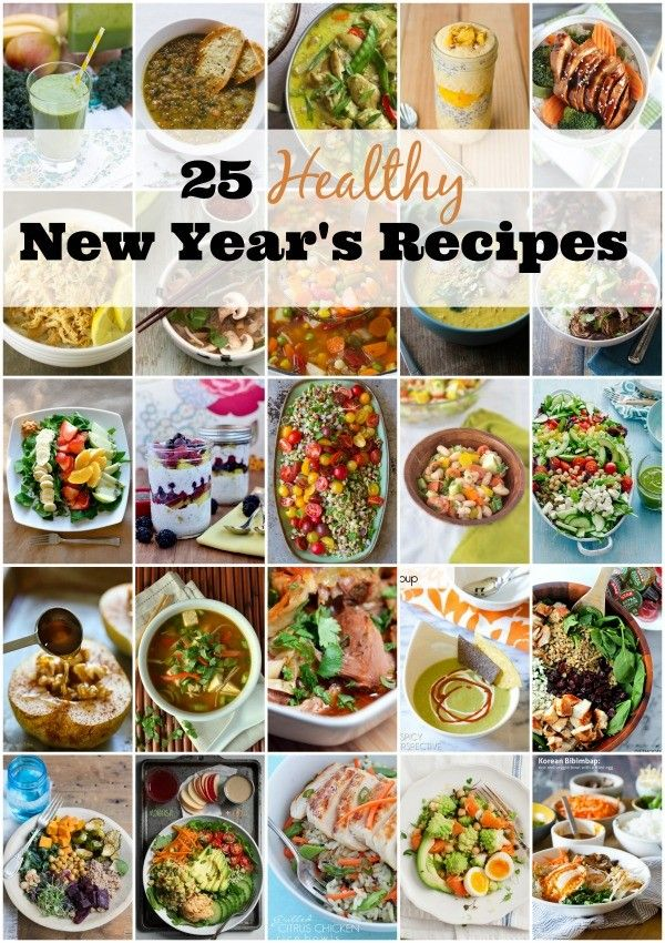 25 Healthy New Year's Recipes for 2015! Looking for the best tasting healthy recipes to kick off the new year? Check out these amazing recipes that are both