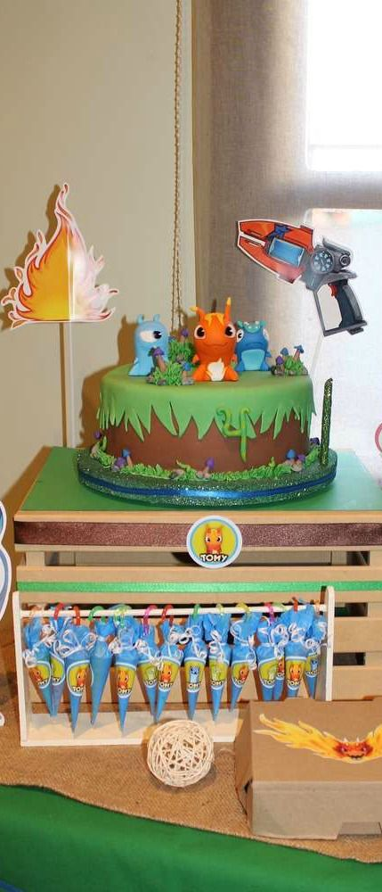 Slugterra Birthday Party treats!  See more party planning ideas at CatchMyParty.com!