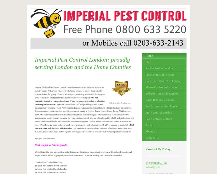 Imperial provide you an excellent value for money treatment or contract program with no hidden costs and expert advice with a high quality service. http://www.london-pest-control-london.co.uk/