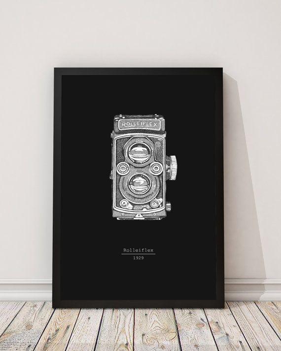 Rolleiflex macchina fotografica d'epoca arredamento di INKSdecor