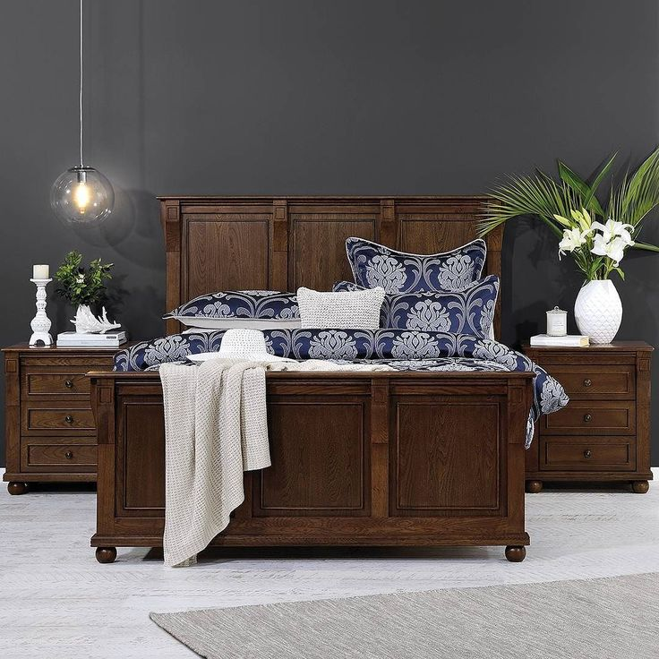 Elegant & effortless! The Elisabeth range has been beautifully crafted from solid European Oak in a classic turn of the Century design . #pretty #traditional #bedroomliving #bedroominspo #style #homedecor