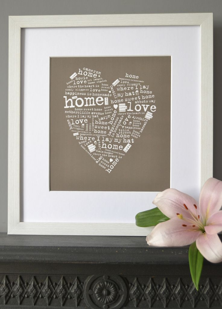 home sweet home warming gift www.intheframedesign.co.uk