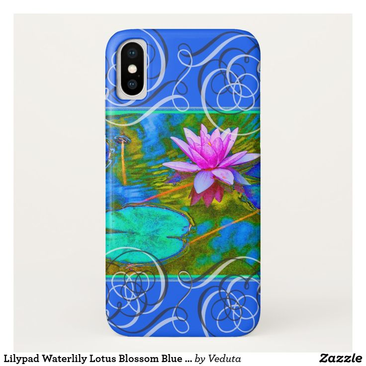 Lilypad Waterlily Lotus Blossom Blue Yoga Bliss iPhone X Case