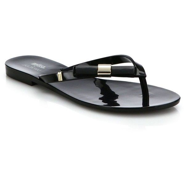 Melissa By Jason Wu Harmonic Bow Flip Flops ($51) ❤ liked on Polyvore featuring shoes, sandals, flip flops, apparel & accessories, jelly flip flops, melissa footwear, bow sandals, melissa shoes and melissa sandals