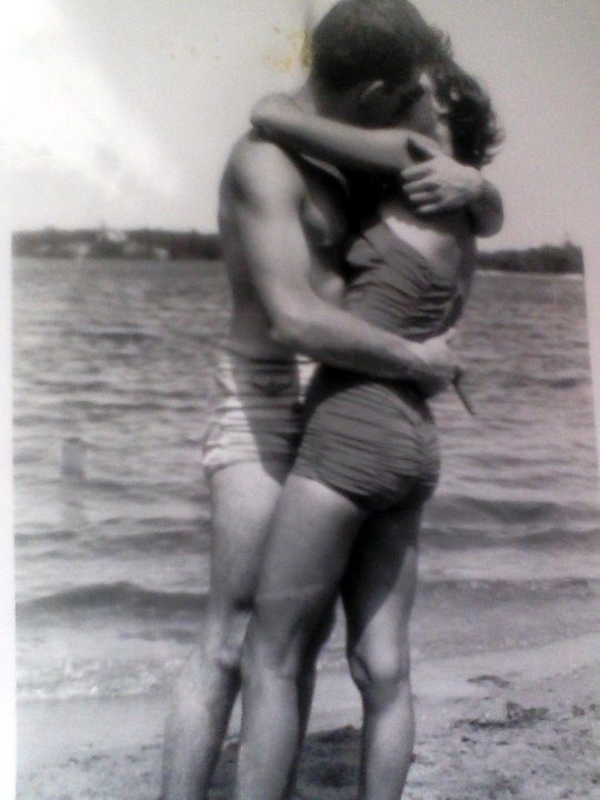 """My grandparents on Horseneck Beach, 1952."""