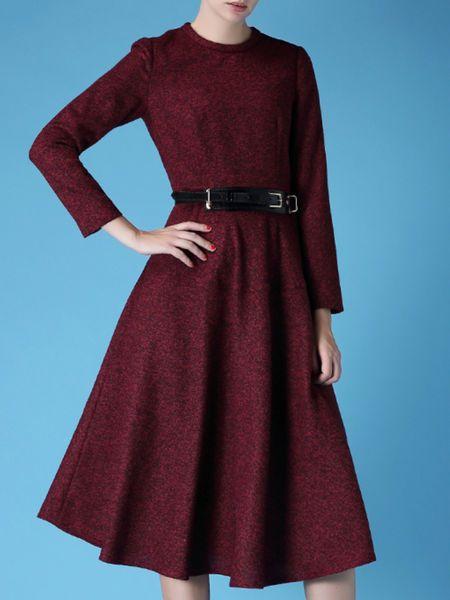 Pockets Zipper #Midi #Dress #stylewe