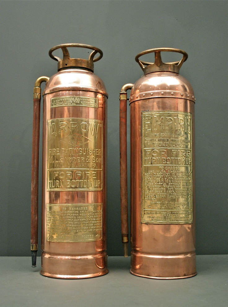 Vintage Fire Extinguisher - Copper & Brass Empire Co. Elmira New York. via Etsy FBvintage
