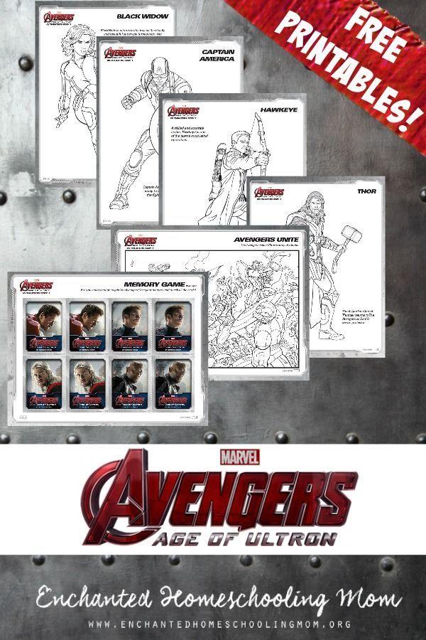 ¿Sus hijos les encanta The Avengers?  Imprimir estos 15 niños GRATIS para colorear.  Perfecto para dar color antes o después de la película!