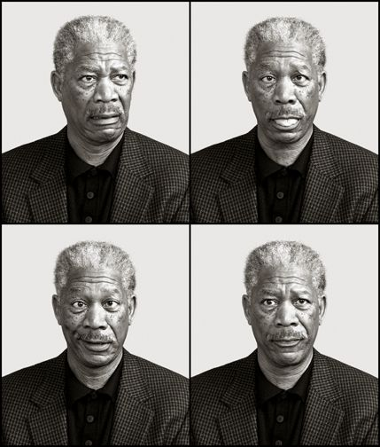 Morgan Freeman by Andy Gotts Naturally if I do this it wouldn't be of Morgan Freeman....