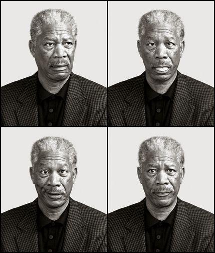 Morgan Freeman by Andy Gotts