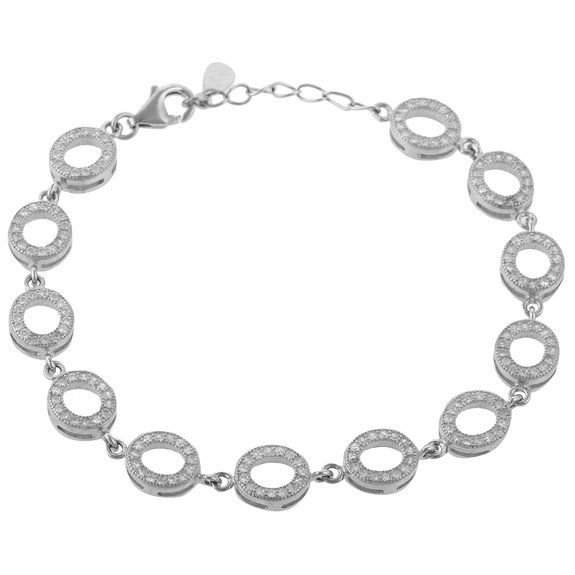 Define Jewellery Silver American Diamond bracelet for Women (DFBC0010)