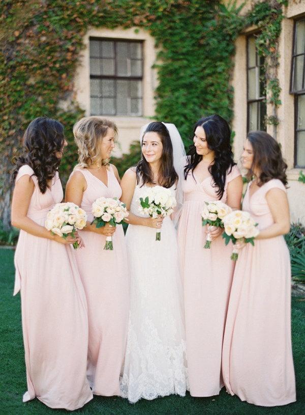 Long Dresses, Wedding Dressses, Wedding Plans, Blushes Pink, Floral Design, Wedding Planning, Blushes Bridesmaid Dresses, Pink Bridesmaid Dresses, Bridesmaid Dresses Colors
