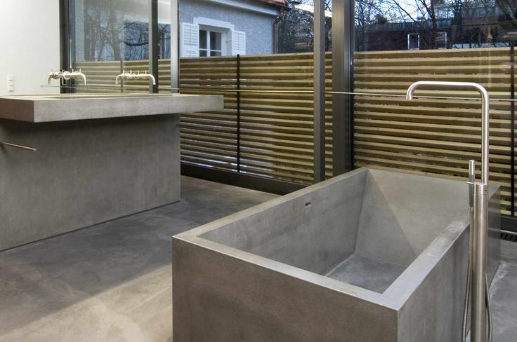 17 best images about concrete bathroom beton im bad on pinterest double vanity korn and sinks. Black Bedroom Furniture Sets. Home Design Ideas