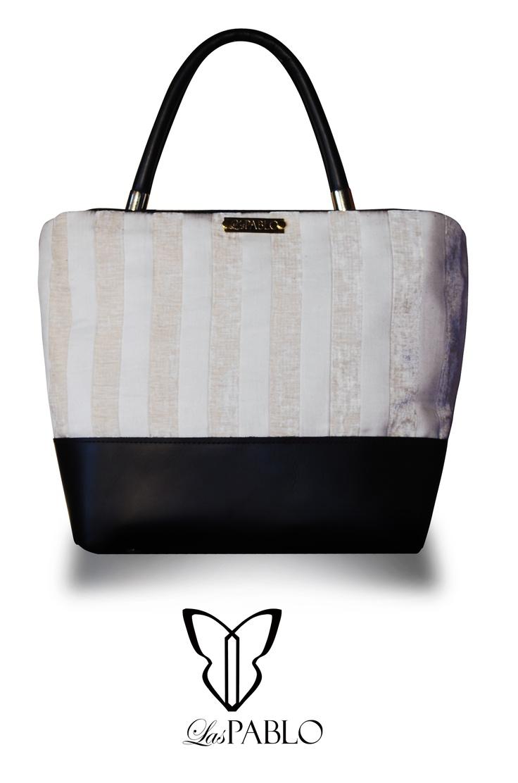 handbags - bolso - jacard italiano y cuero argentino