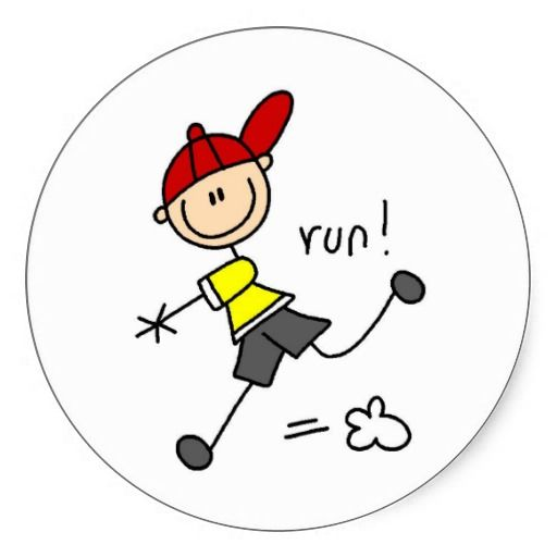 Running To Base Sticker  #baseball #stickers #stick figures
