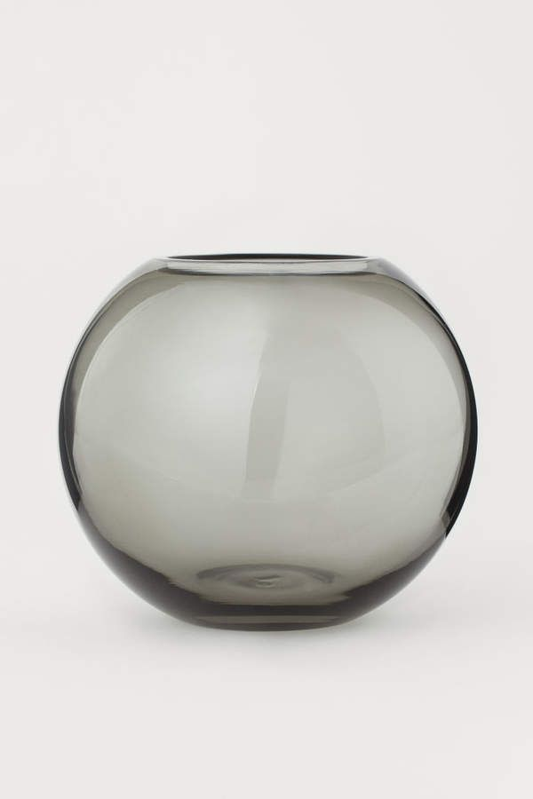 Small Glass Vase Gray Home All H M Us Small Glass Vases Round Glass Vase Vase