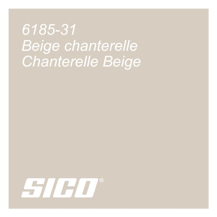 Chanterelle Beige paint colour by Sico Paints | Beige chanterelle, couleur de peinture Sico