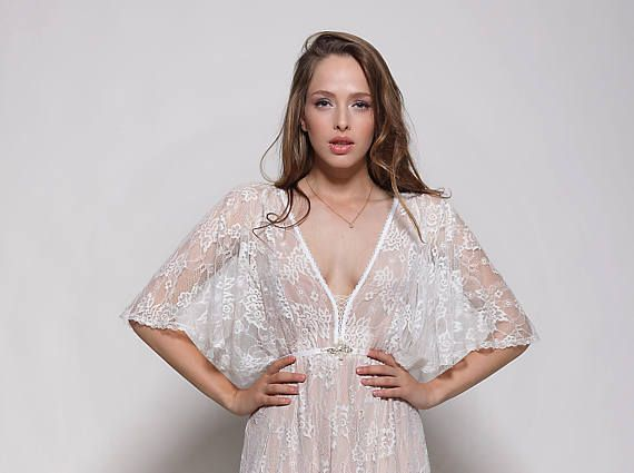 Wedding dress, all lace bohemian wedding dress, romantic lace wedding dresses, lace bridal gown
