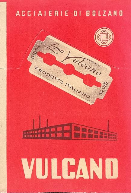 Vintage Italian Posters ~ #illustrator #Italian #posters #vintage ~ pubblicitario - acciaierie di bolzano - lametta vulcano, via Flickr.